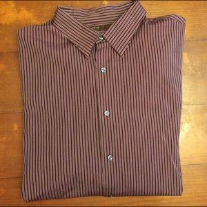 Perry Ellis Other - 100% Cotton Perry Ellis Striped Designer Shirt