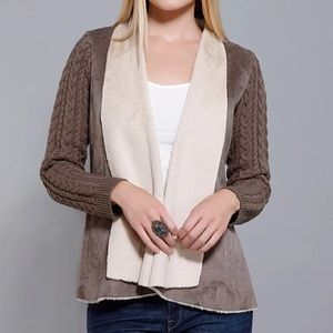 Dolce Cabo Jackets & Blazers - NWT Dolce Cabo knit taupe sweater