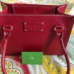 Kate Spade Wellesley handbag. Red leather.