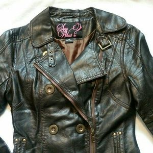 Say What! Faux leather jacket XS