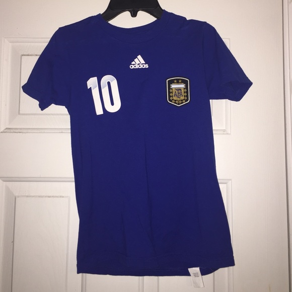 info for 2b8ef 3ba34 Adidas Messi Soccer T-Shirt Jersey- Youth Small