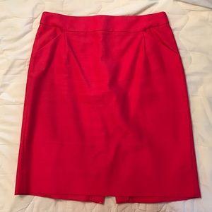 J. Crew pencil skirt - coral