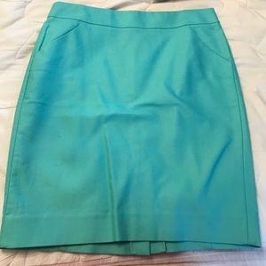 J. Crew turquoise pencil skirt
