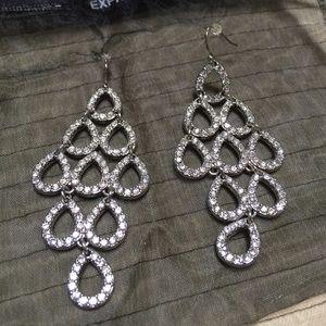 Express chandelier rhinestone earrings