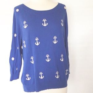 MADEWELL ANCHORS & DOTS SWEATER