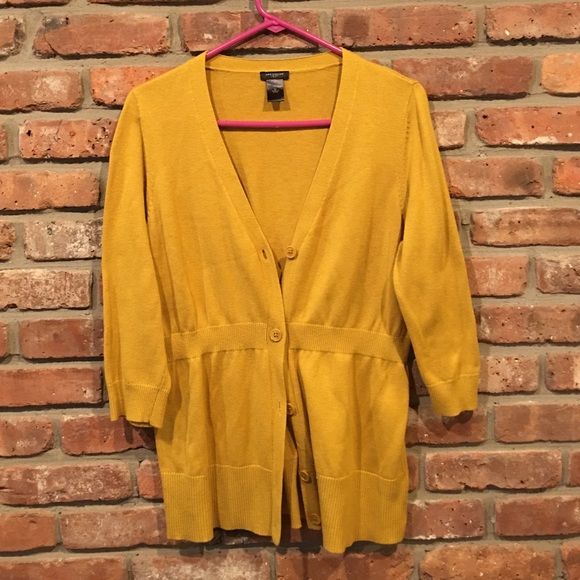 80% off Ann Taylor Sweaters - Ann Taylor mustard yellow cardigan ...