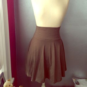 American Apparel Cotton Spandex Circle Skirt Olive