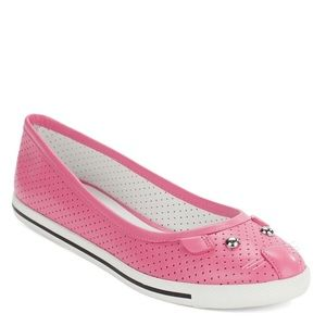 Marc by Marc Jacobs Shoes - Marc by Marc Jacobs Pink Perforated Mouse Flats