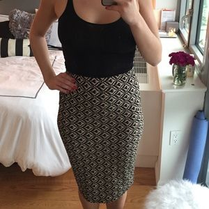 Patterned Pencil Skirt