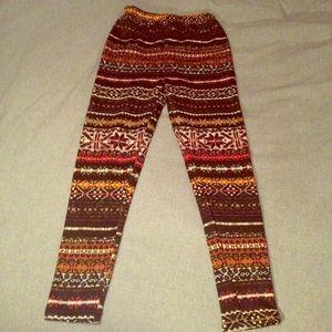 Pants - Cozy Fleece Lined Winter Printed Leggings