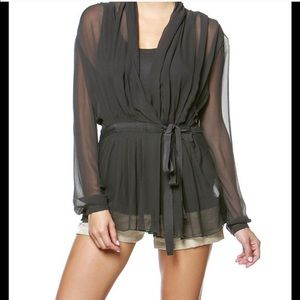 ✨Pleated Wrap Top With Tank Inset✨