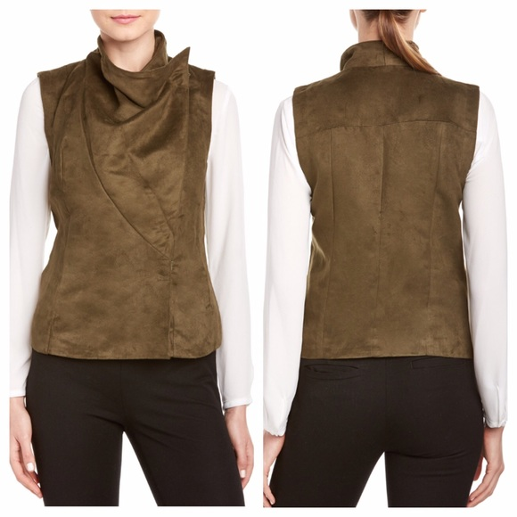 7a04ccdcc1f93e KUT from the Kloth Asymmetrical Cowl Vest (M L)