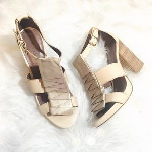Hive & Honey Shoes - Hive & Honey Piperlime Metallic Ruffle Heels