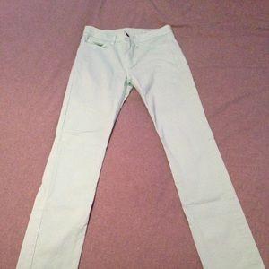 American Apparel Jeans - American Apparel Mint Green Bootcut Slim Slack