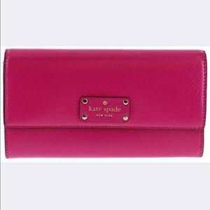 Kate spade Wellesley pink wallet