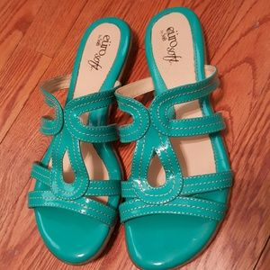 Soft Gallery Shoes - Soft teal sandals