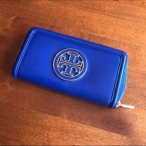 Tory Burch Handbags - NWT TORY BURCH WALLET! Royal blue!