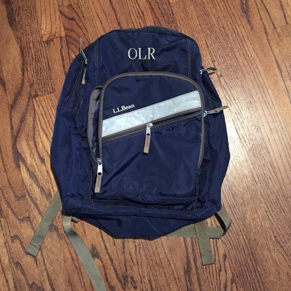 LLBean Monogram OLR Blue Backpack