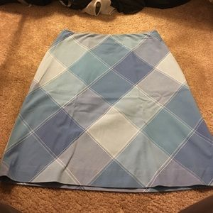 Talbots Dresses & Skirts - Sale-Beauty talbots blue tone diamond 💯 cot skirt