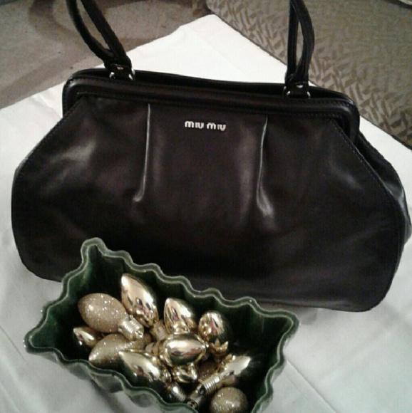 MIU MIU Bags   Black Leather Bag Made In Italy   Poshmark 2b1032f8d6