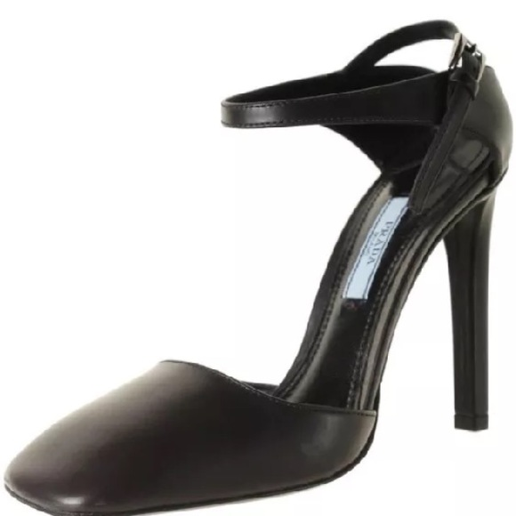 with mastercard online Prada Leather Square-Toe Pumps best seller cheap price NOWg2