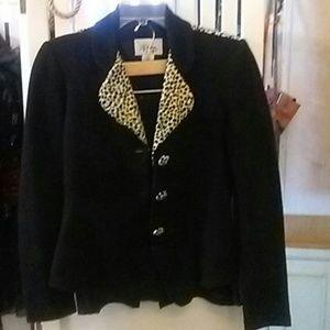 D.J. Summers Dresses & Skirts - D.J. Summers 2-pc. Black Suit/Cheetah Contrast