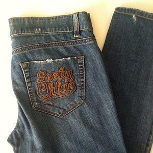 See by Chloe Denim - See By Chloe Cropped Skinny Jeans