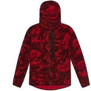 Nike Jackets   Coats - Nike Red Tech Fleece Full Zip Camo Hoodie Sweater 696c5cc143ea