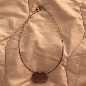 Purple/Greyish pendant necklace