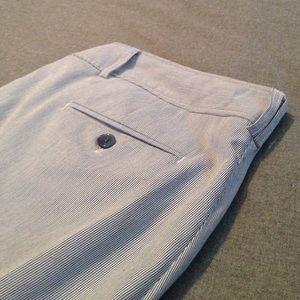 Kenar Pants - Kenar Straight Leg Pinstripe Summer Trousers