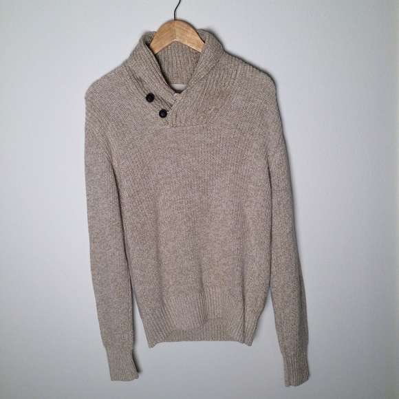 h m sweaters hm logg mens beige tan warm sweater pullover poshmark