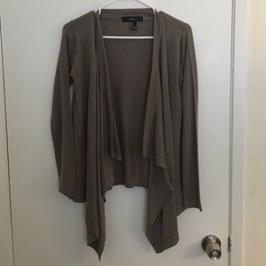 Taupe/grey draped cardigan