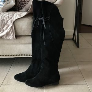 Fergie Over the Knee Black Boots