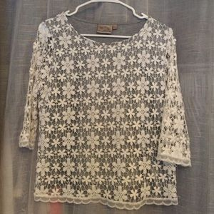 Dantelle Tops - Lace overlay top
