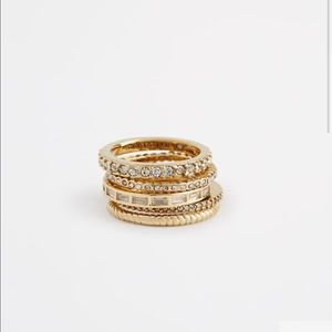 Ann Taylor Jewelry - Crystal staked ring set