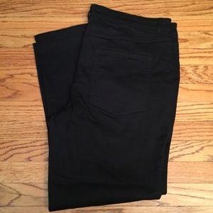 Isaac Mizrahi Ankle Plus Size Black Jeans