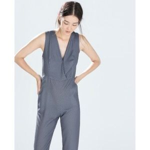 BF Sale Zara Printed Jumpsuit Size Small