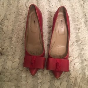 J.Crew Collection Red Bow Pumps