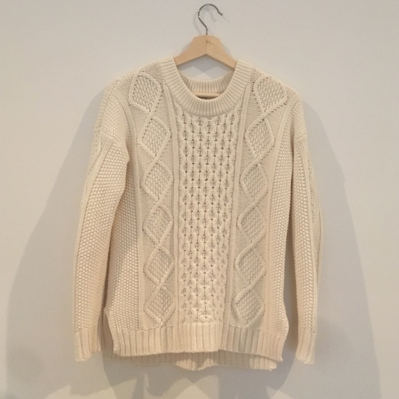 62% off Madewell Sweaters - Madewell Classic Cable Pullover ...