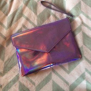 Deena & Ozzy Handbags - holographic clutch