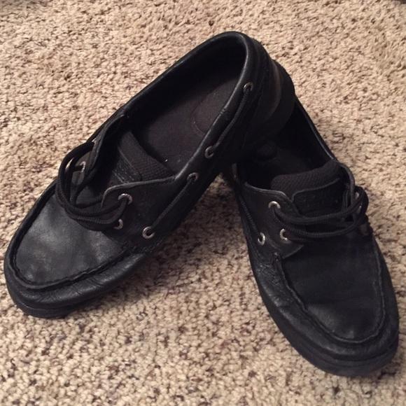Sperry Shoes | All Black Sperrys | Poshmark