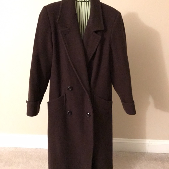 Donnybrook full length dark brown wool coat 4P from Ann's closet