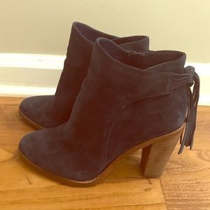 Vince Camuto Navy Suede Linford bootie