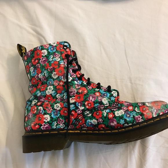 26% off Dr. Martens Shoes - Dr Martens Flower Print Boot (Floral ...
