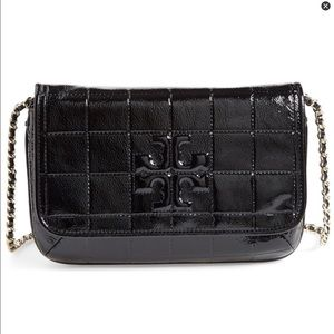 Tory burch Marion quilted patent clutch bag nwt