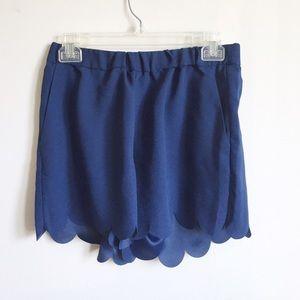 Madewell scallop hemmed shorts