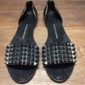 Chinese Laundry Black Studded Flats