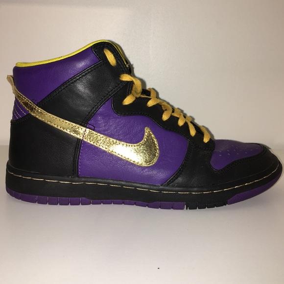 Nike Shoes   Nike Id Purple Gold High