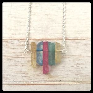adorned by amie Jewelry - NEW HANDCRAFTED SILVER & PASTEL QUARTZITE NECKLACE
