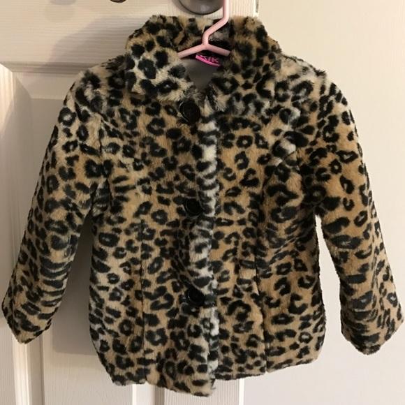 2ba57003a605 Koala Kids Jackets & Coats | Koala Cheetah Print Faux Fur Coat ...